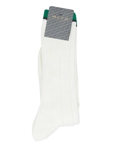 Alto Socks Alto Socks  Çizgi Dokulu Erkek Çorap 101643914 Beyaz